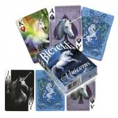 Jednorożce Unicorns - klasyczne karty do gry projektu Anne Stokes