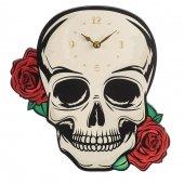 zegar - Czaszka z Różami