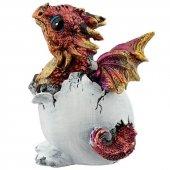 Smocze Jajo z Czerwonym Smoczątkiem - figurka fantasy 9cm