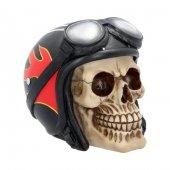 Czaszka Motocyklista Hell Fire - figurka dekoracyjna