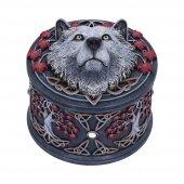 Biały Wilk Jesienny Opiekun - szkatułka, projekt: Lisa Parker