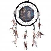 Sowa i Wróżka - łapacz snów z obrazkiem Lisy Parker, 33cm