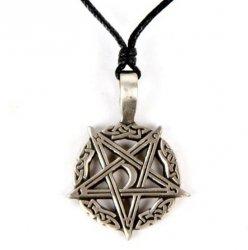 Odwrócony Pentagram z Księżycem - wisiorek