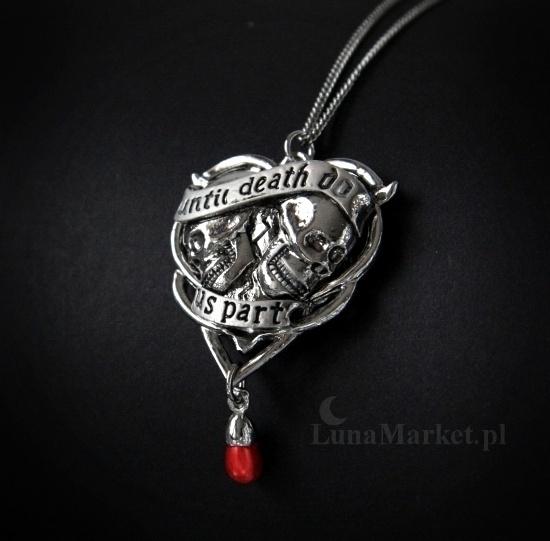 gotycka biżuteria alchemy gothic naszyjnik z czachami