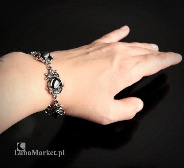 bransoletka Pąki Czarnej Róży z naturalnymi kamieniami onyksami