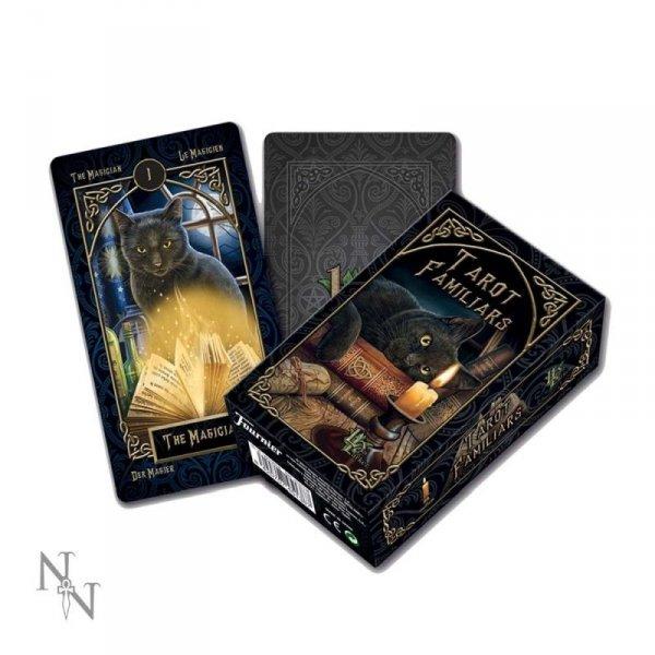 Tarot Familiars - talia kart tarota, projekt: Lisa Parker, karty z magicznymi zwierzętami