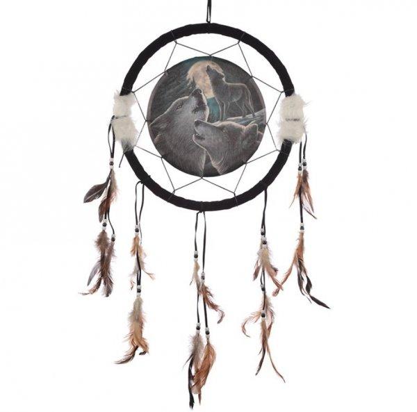 indiański łapacz snów z wilkami - Wilcza Pieśń, projekt: Lisa Parker