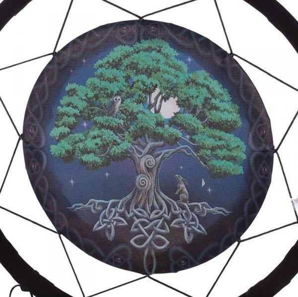 """magiczny indiański łapacz snów z obrazkiem """"Drzewo Życia"""""""