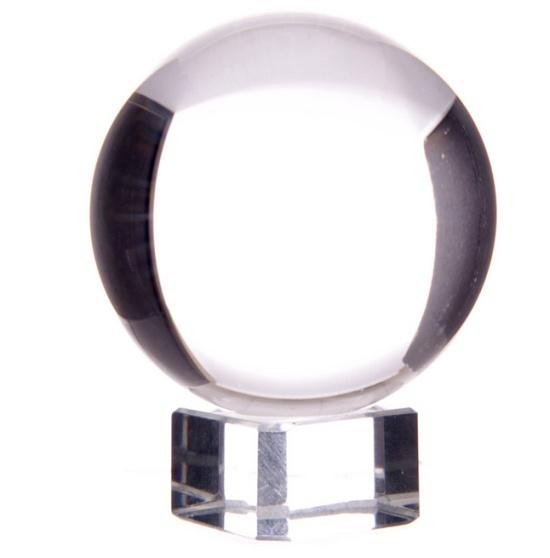 szklana kula o średnicy 5 cm - kula kryształowa z podstawką