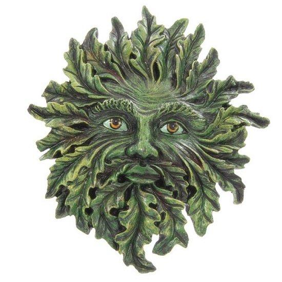 płaskorzeźba green man zielony człowiek dziad borowy ozdoba