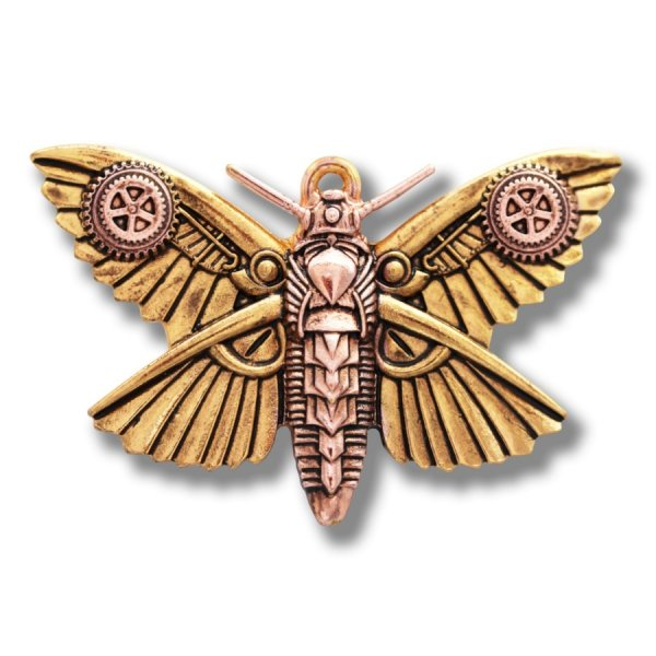 "naszyjnik w stylu steampunk - wisiorek ""Ćma Magradore"" Magradore's Moth by Anne Stokes"