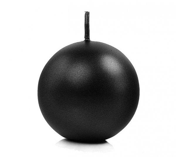 czarna świeczka w kształcie kulki - świeca kula 6 cm, kolor czarny