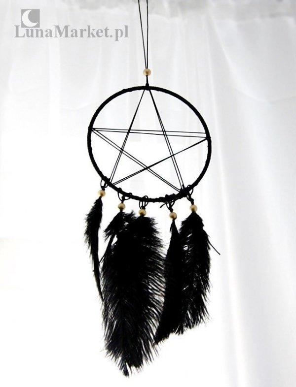 """Pentagram Sentinel """"Pentagram Strażnik"""" - czarny łapacz snów"""