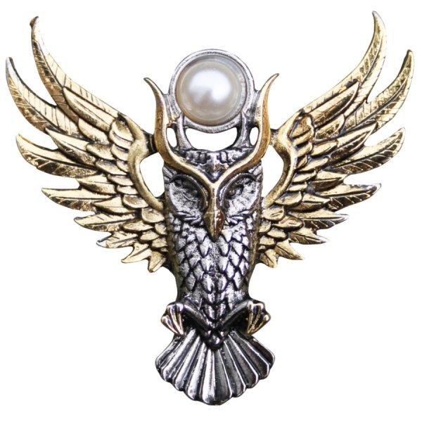 """Sowa Ateny """"Owl of Athena"""" broszka z sową z serii Bestiariusz, talizman: Mądrość"""