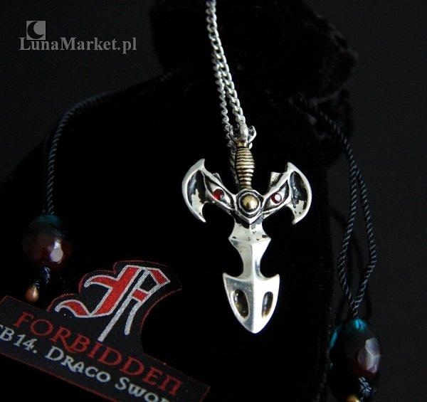 magiczny naszyjnik, wisiorek Smoczy Miecz Draco Sword, talizman Siła Witalna, amulet ochronny