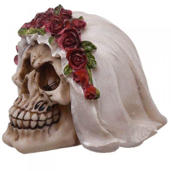 figurka dekoracyjna czaszka - Straszliwa Panna Młoda