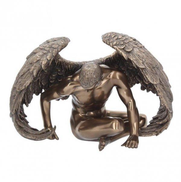 """figurka dekoracyjna Odpoczywający Anioł """"Angels Rest"""" w kolorze brązu"""