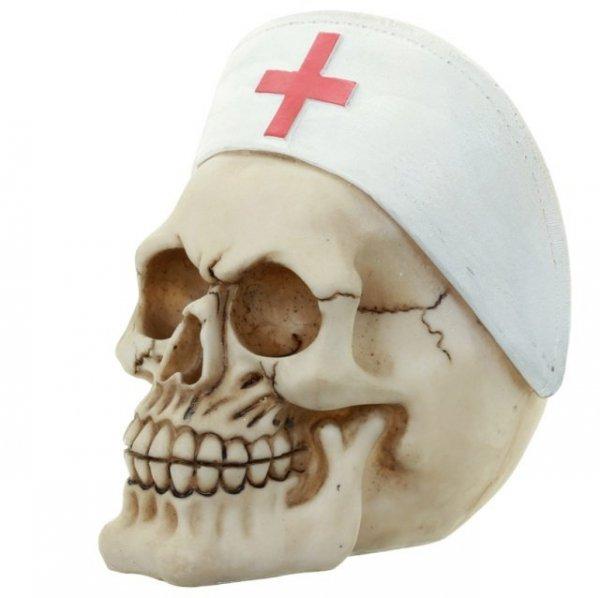 czacha pielęganiara - czaszka w czepku