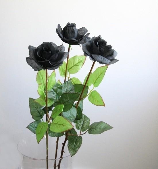 Róża Czarna - kwiat sztuczny