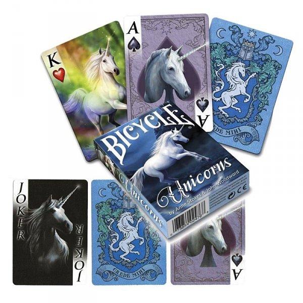 """karty do gry w pokera - klasyczna talia kart """"Jednorożce"""" """"Unicorns"""" Anne Stokes"""