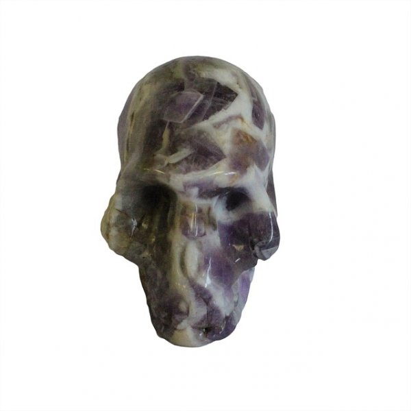 czaszka rzeźba z naturalnego kamienia ametystu czacha figurka