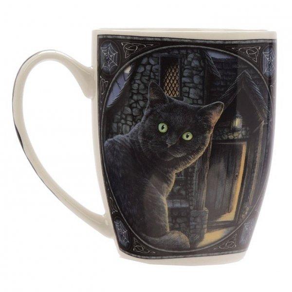 kubek z czarnym magicznym kotem, projekt Lisa Parker