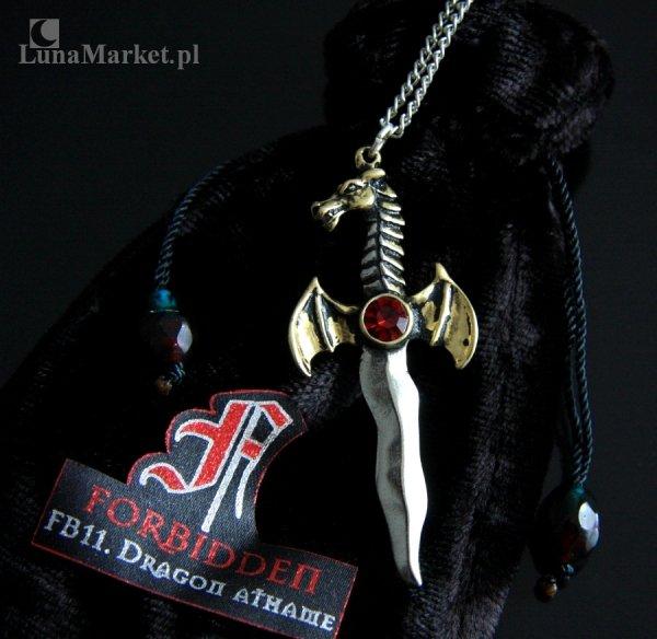 """magiczny naszyjnik gotycka biżuteria Smoczy Sztylet """"Dragon Athame"""", talizman: Tworzenie, Kreacja"""