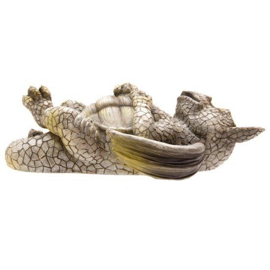 figurki smoków: Śpiący Smok figura ogrodowa (dekoracja do domu lub do ogrodu)