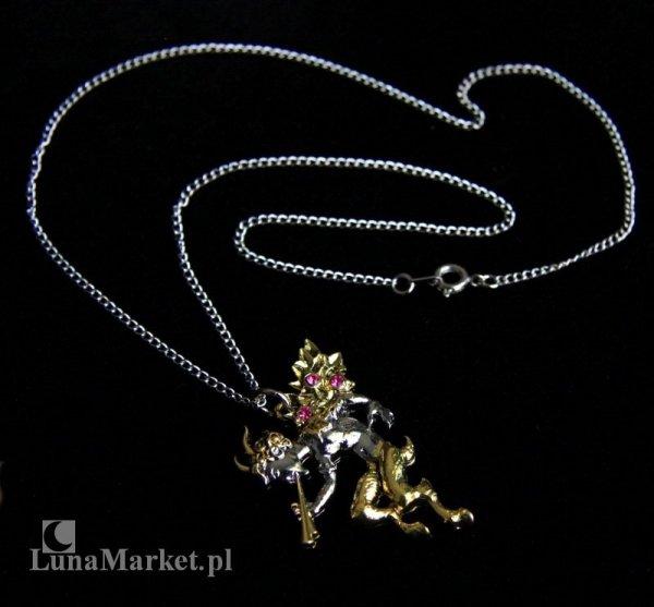 """naszyjnik """"Pan"""" - Faun, z serii: Bestiariusz, biżuteria magiczna i gotycka"""