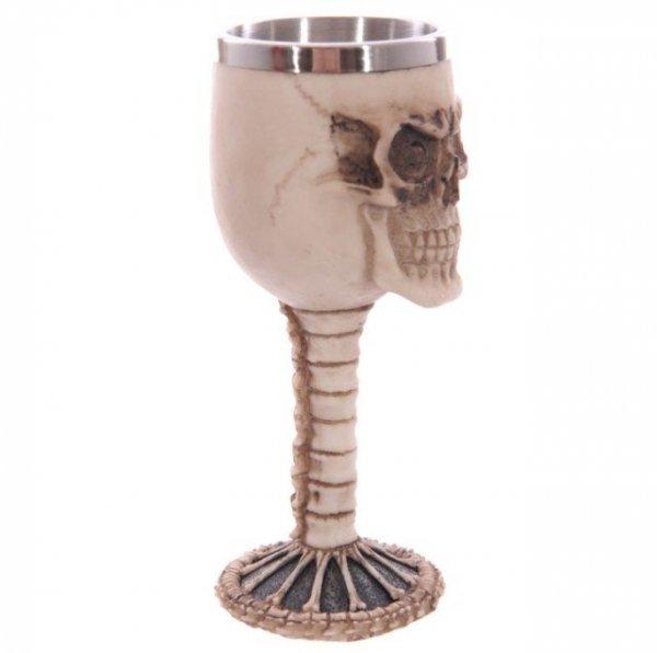 gotycki, mroczny kielich dekoracyjny w kształcie czaszki