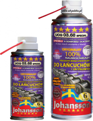 Wosk pełzający do lin i łańcuchów JOHANSSON UCG 03.68 PRO spray 400ml