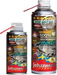 Smar do łożysk z molibdenem BGM 2697 MAX 400ml spray JOHANSSON
