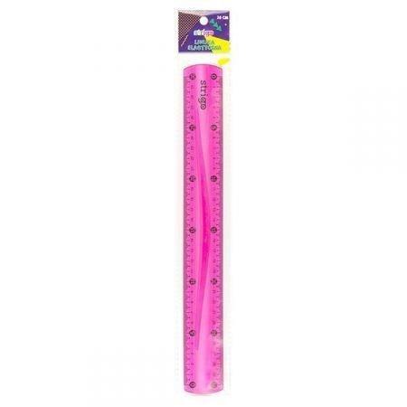 Linijka elastyczna 30 cm różowa STRIGO