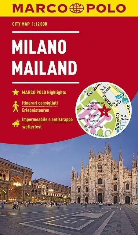 Plan Miasta Marco Polo. Mediolan w.2018