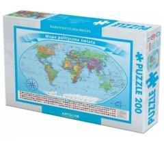 Puzzle 200 - Świat polityczny