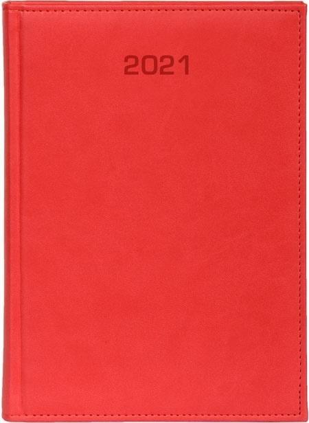 Kalendarz 2021 Dzienny A5 Vivella czerwony