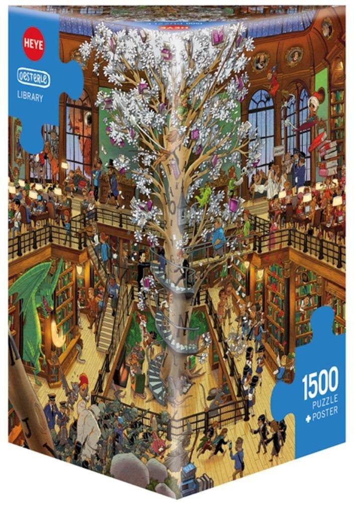 Puzzle 1500 Biblioteka ( Puzzle+plakat), Oesterle