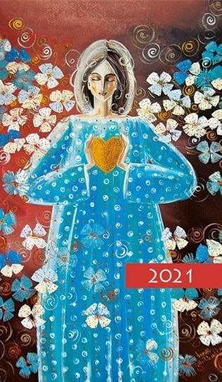 Kalendarz 2021 Tygodniowy Kolorowy aniołek