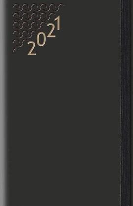Terminarz 2021 B7 Flex z gumką czarny