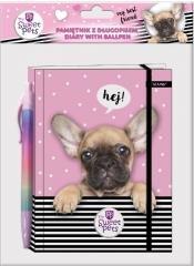 Pamiętnik z długopisem The Sweet Pets Pies
