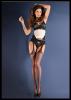 Bielizna-Rajstopy Strip Panty EROTICA STRIP PANTY CLASIC Czerwone S/M