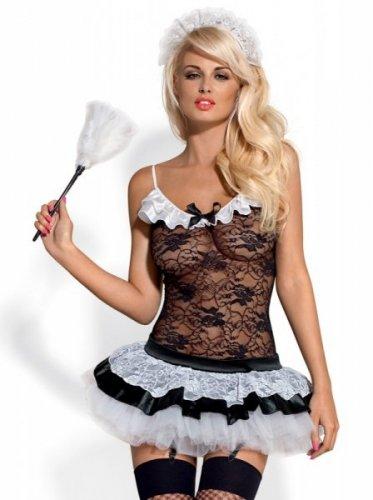 Bielizna-Housemaid kostium 5-częściowy  S/M