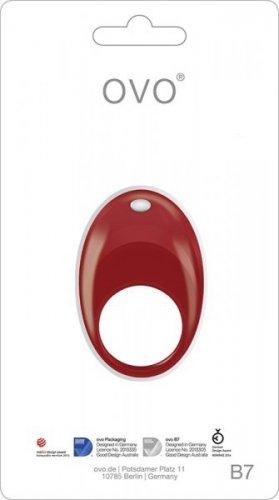 Pierścień-OVO B7 VIBRATING RING RED