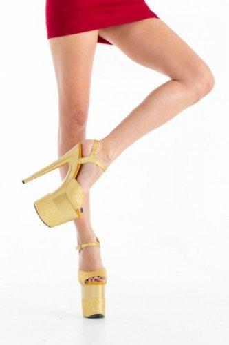 Buty- platformy złote błyszczące 38