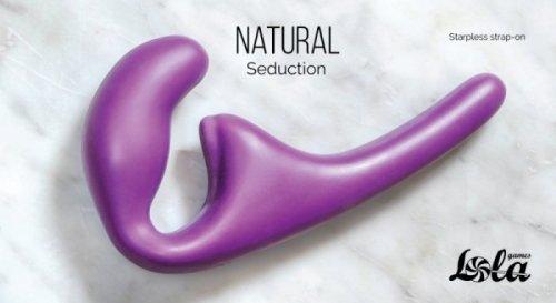 Strapless strap-on Natural Seduction Purple