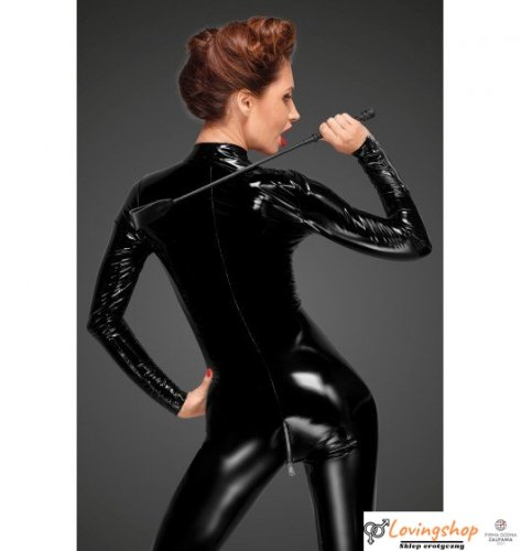F188 PVC overall with long metal 3-way zipper L