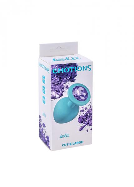 Plug-Anal Plug Emotions Cutie Large Turquoise light purple crystal