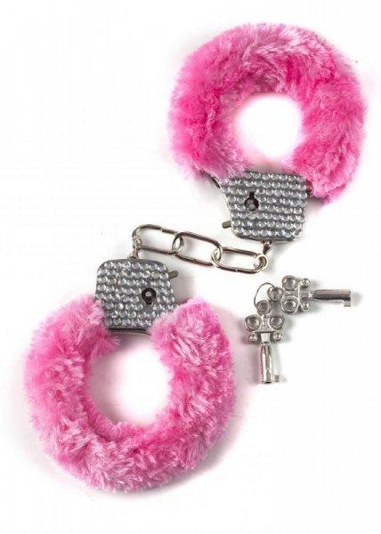 Kajdanki-Wristcuffs with crisatls BONDAGE pink