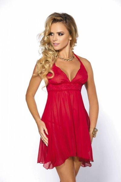 Bielizna-Essie red chemise S (czerwona halka)