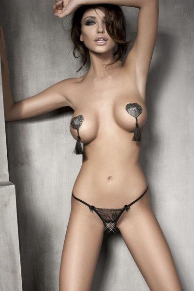Bielizna-Evita black string L  (czarne stringi)